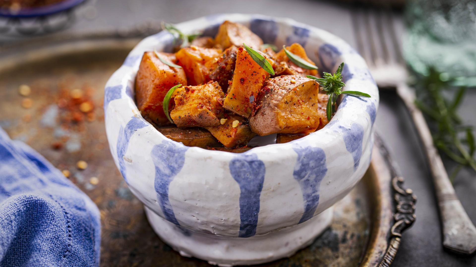 Cartofi Dulci cu Boia Dulce și Ulei de măsline 1