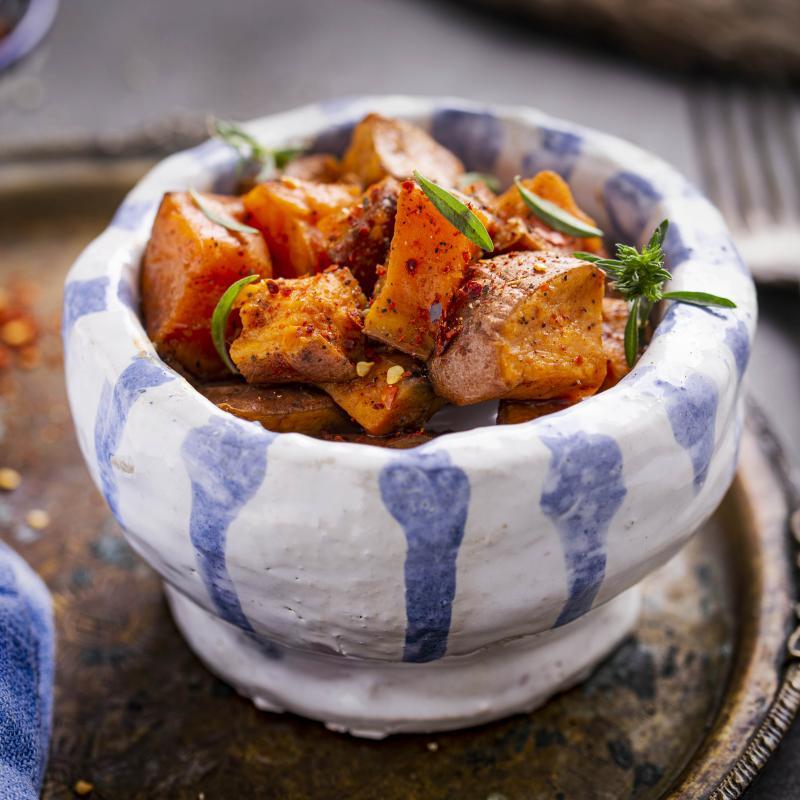 Cartofi Dulci cu Boia Dulce și Ulei de măsline