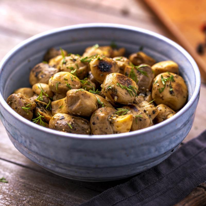 Ciuperci Sotate cu Usturoi si Marar