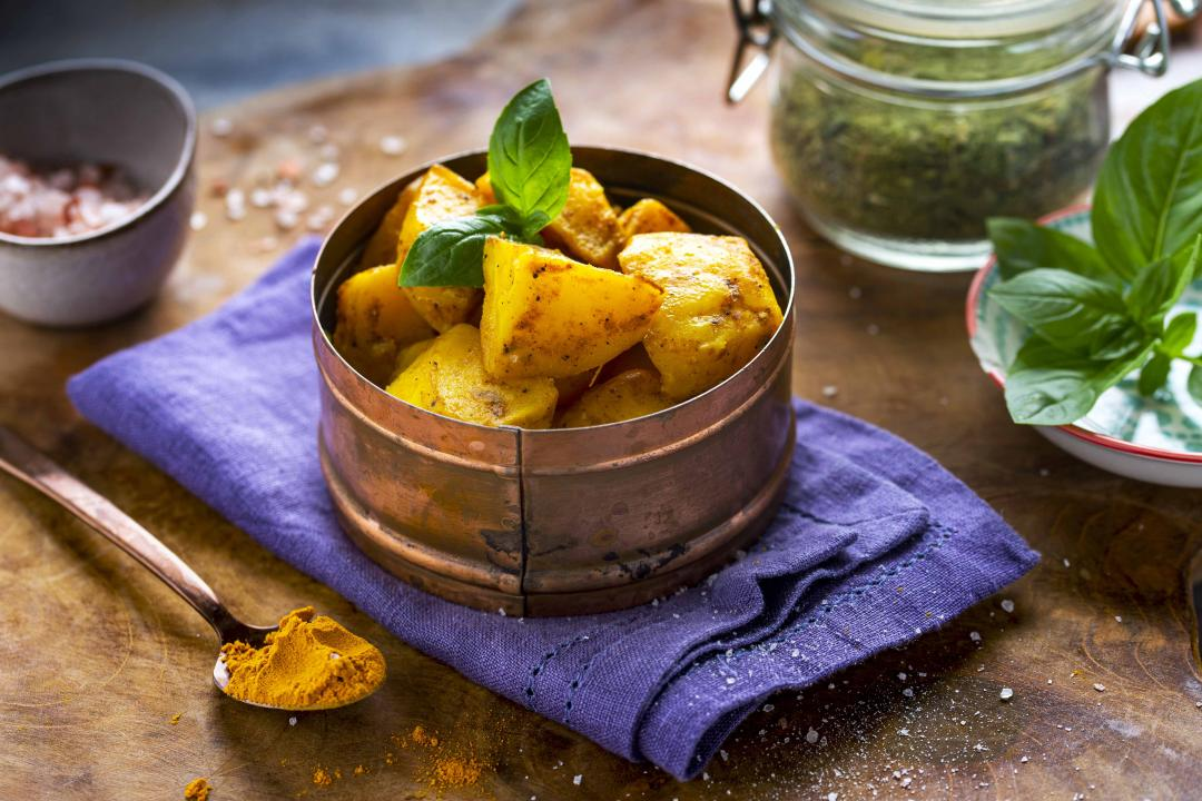 Cartofi la Cuptor cu Turmeric