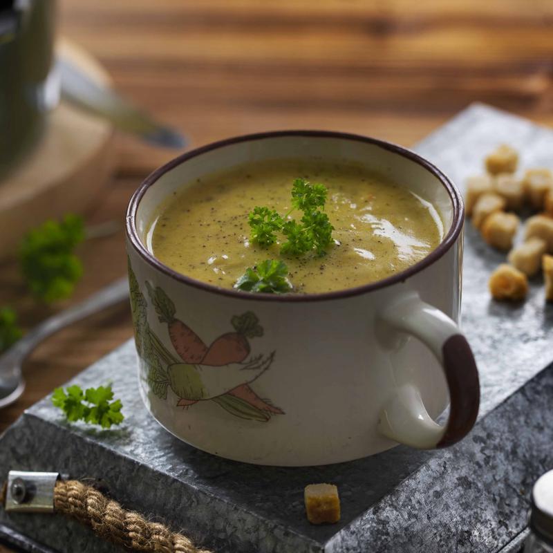 Supa Crema de Zucchini cu Gorgonzola