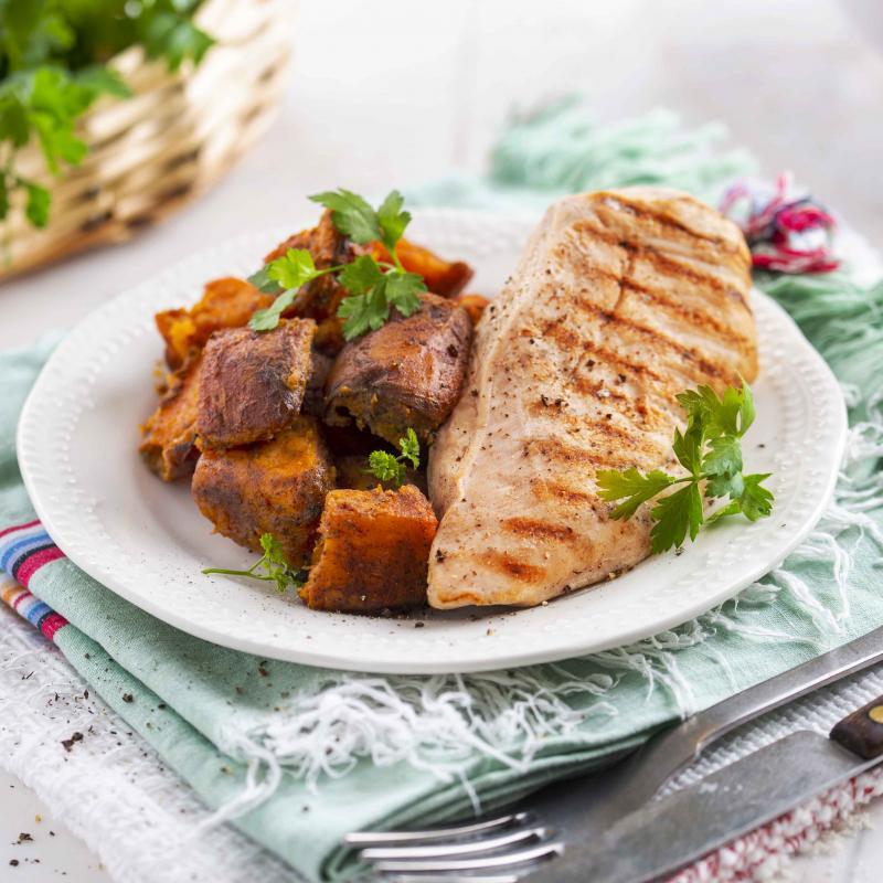 Curcan Grill cu Cartofi Dulci