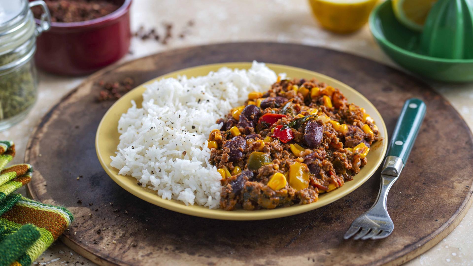Chilli Con Carne cu Orez Jasmin 1