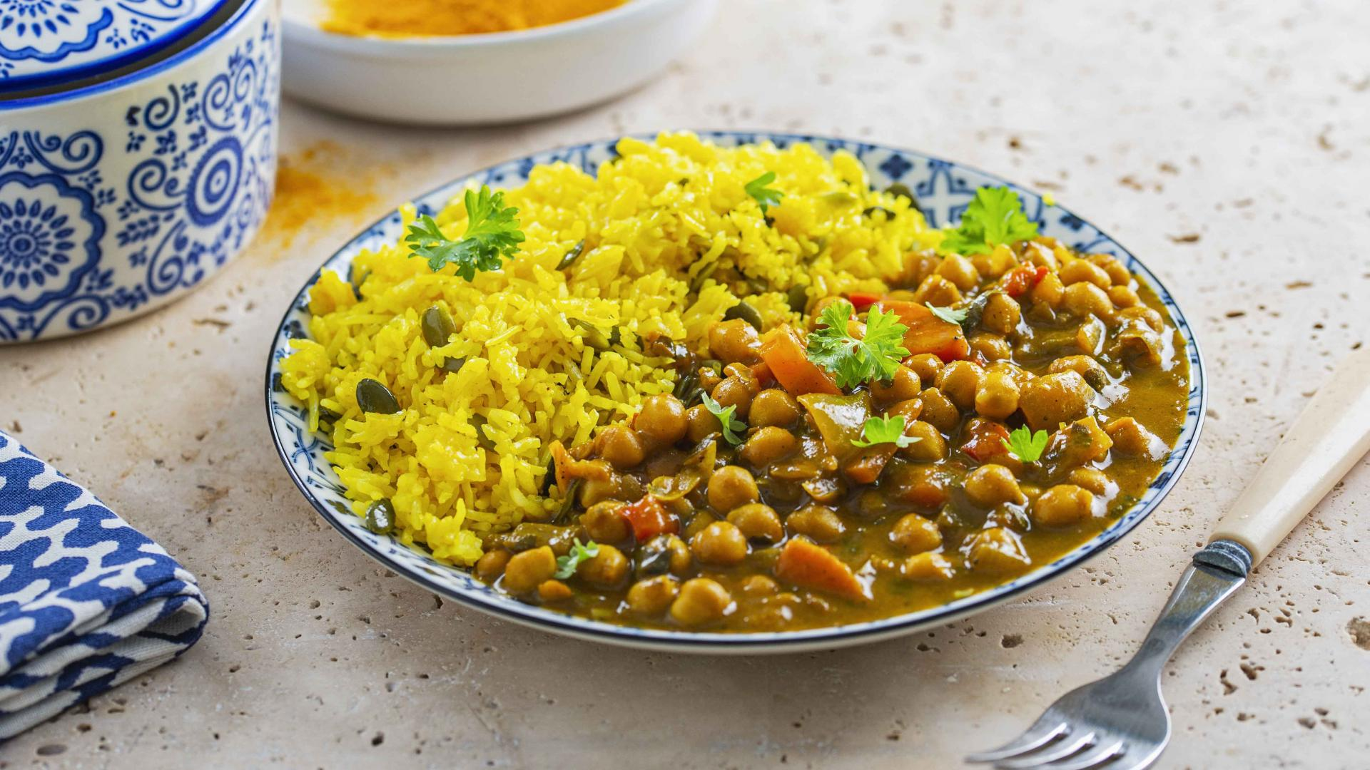 Naut Marocan cu Orez cu Seminte de Dovleac si Sofran 1
