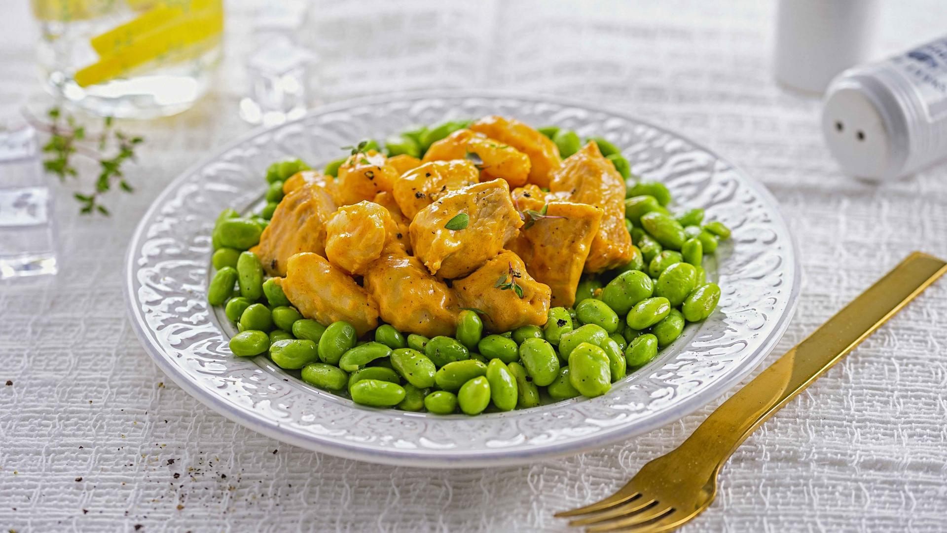 Spicy Turkey Cheesy Bites cu Sote de Edamame 1