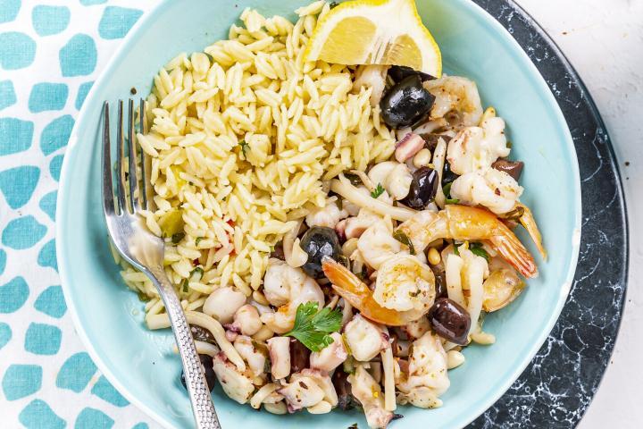 Greek Style Seafood & Risoni 1