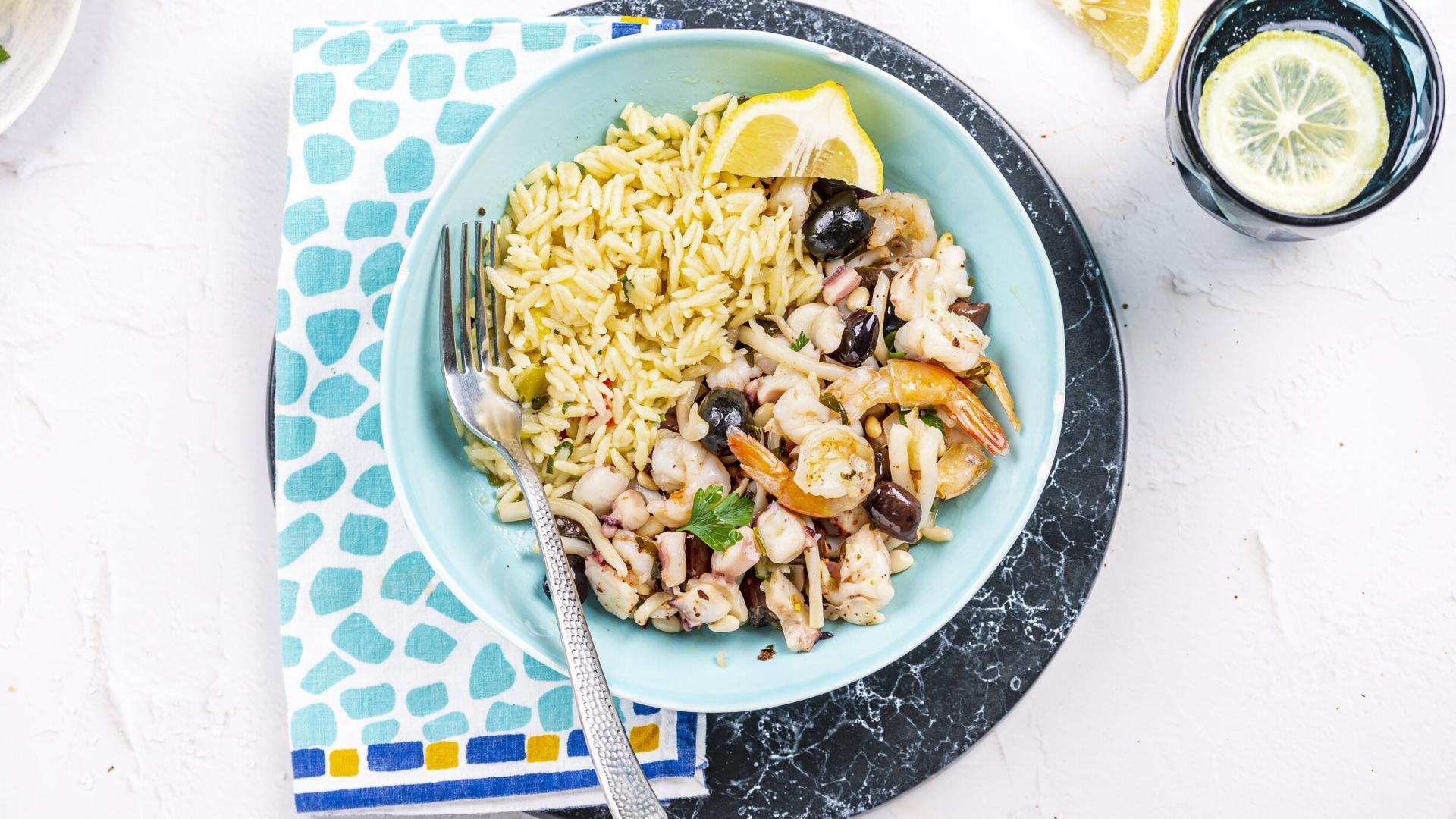 Greek Style Seafood & Risoni 2